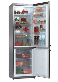 Combined refrigerator Snaige RF36SM-P1CB27 stainless steel, 0 zone