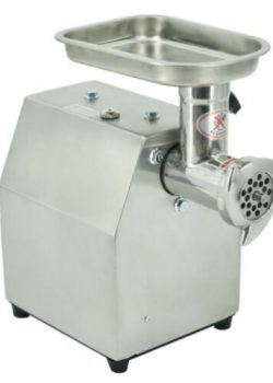 Electric meat grinder with filling attachment