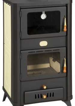 Fireplace stove with oven and heat exchanger PRITY FG W18 R