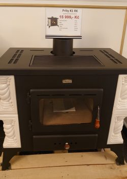 Tiled fireplace stove PRITY K1 RK, white