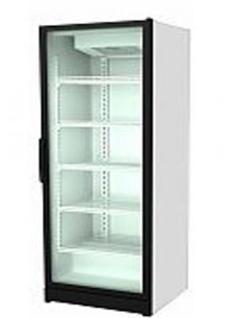 Refrigerated glass refrigerator for crates