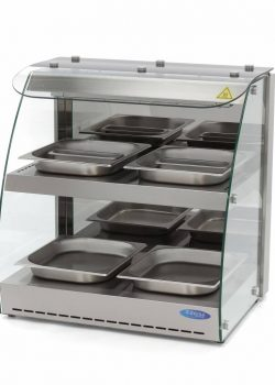 Self-service countertop warm showcase 4x GN1 / 2 with 2 floors